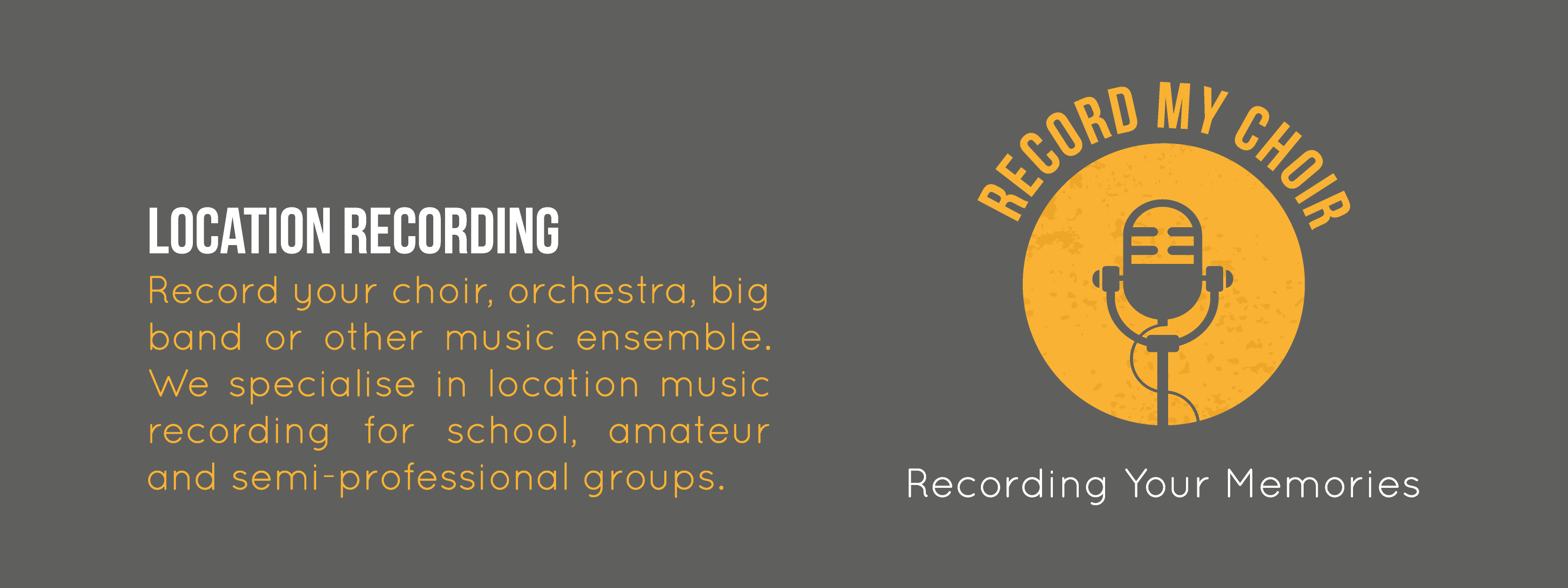 Location Music Recording - Record My Choir