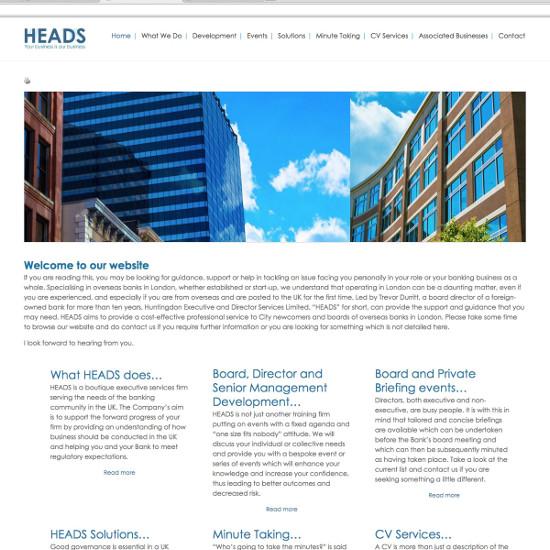 Heads - Website Design